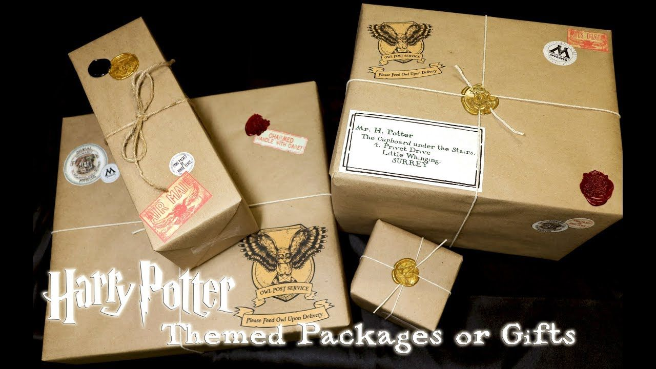 Harry Potter Themed Packages Or Gifts Owl Post Diy Harry