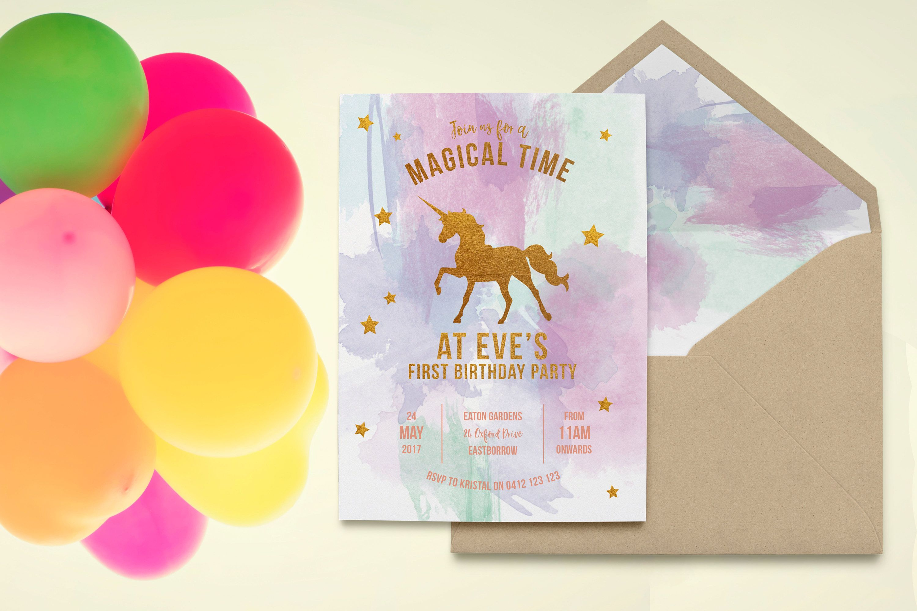 wording ideas forst birthday party invitation%0A Gold Unicorn   Glitter Unicorn   Rainbow Unicorn   Unicorn Birthday Party    Unicorn  st Birthday
