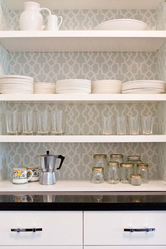 butler s pantry wallpaper behind shelves butler s pantries rh pinterest com