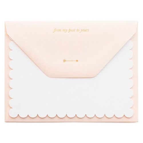 Sugar Paper My Post to You Scallop Note Set  #currentlycoveting