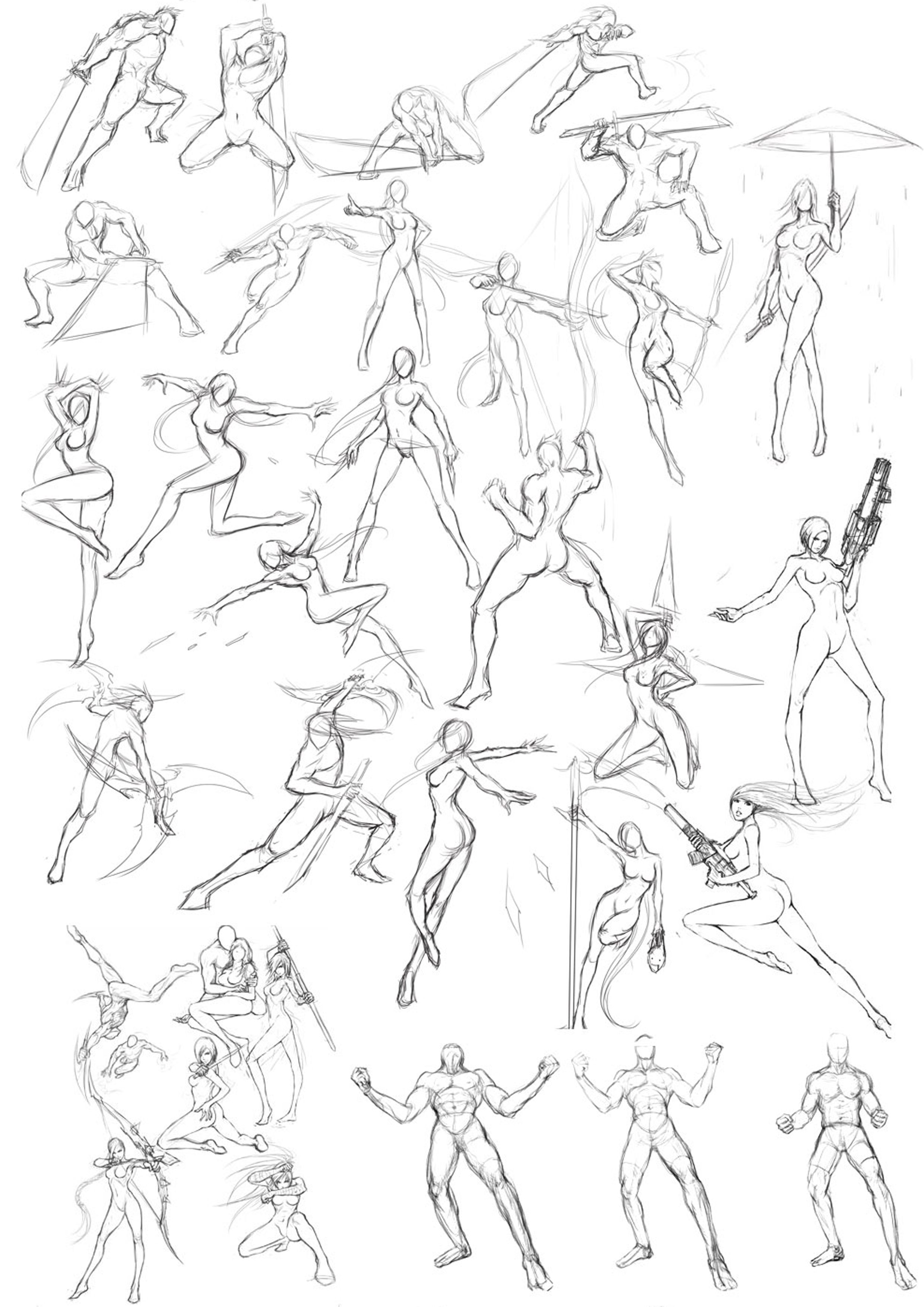Martial Arts Posture In 2019 Art Reference Poses Drawing