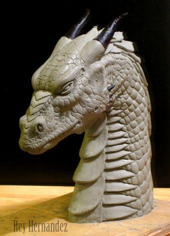 Dragon Head Ii Dragon Sculpture Sculpture Clay