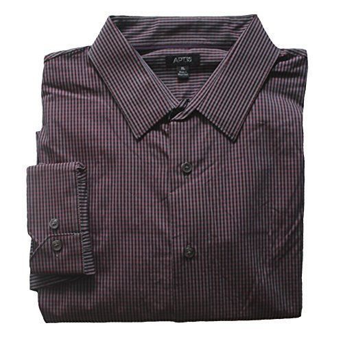 Men's Modern-Fit Work Week Micro-Check Casual Button-Down Shirt -Black,Red Medium Apt 9 http://www.amazon.com/dp/B013D19YOA/ref=cm_sw_r_pi_dp_dem8vb0J5Y29J