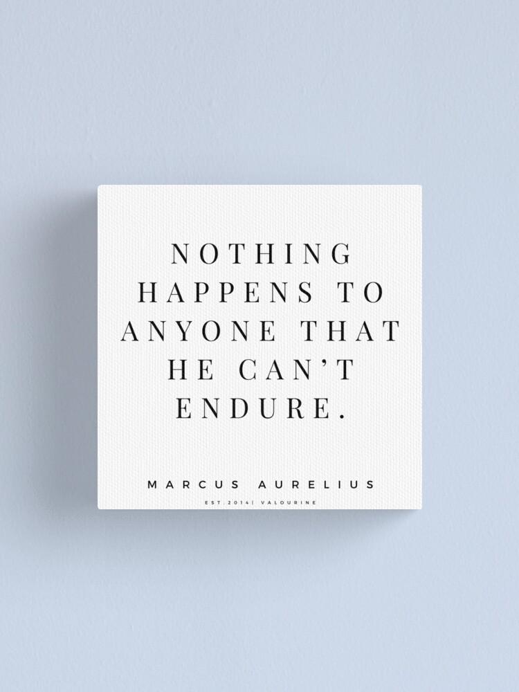 33  Marcus Aurelius Stoicism Quotes 200831  Stoic Philosophy Inspirational Saying Meditation Canvas Print by valourine