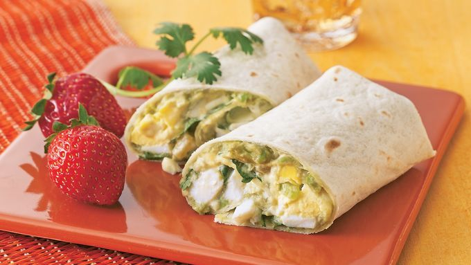 Egg salad had undergone a zesty transformation that will make these wraps a lunch time favorite!