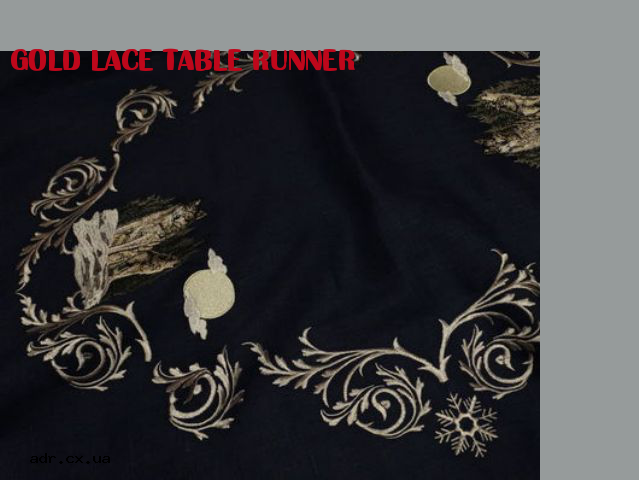 gold lace table runner