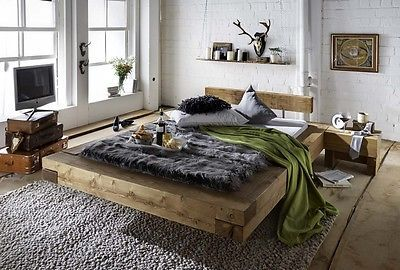 details zu massivholzbett doppelbett bettgestell wildeiche massiv kompass 180x200 neu betten. Black Bedroom Furniture Sets. Home Design Ideas