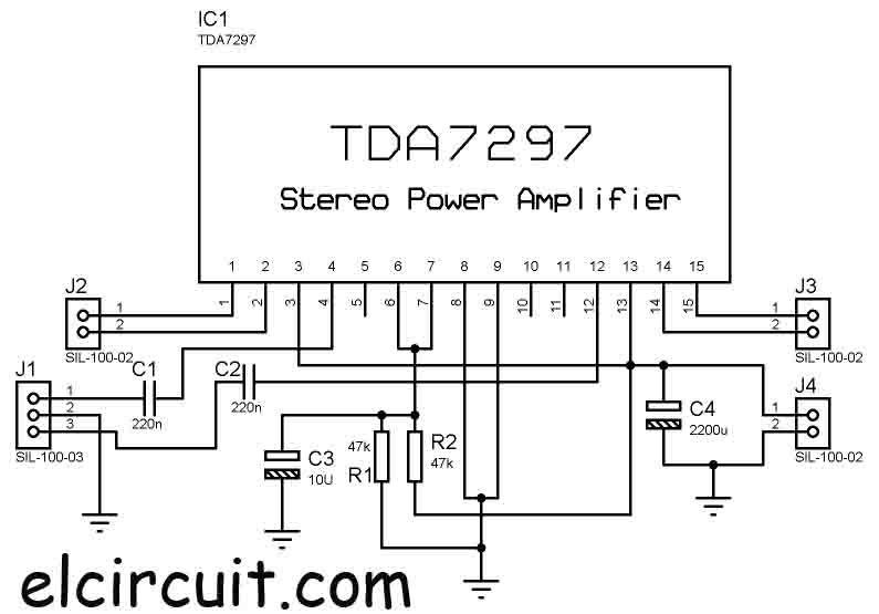 tda7560 audio amplifier circuit schematic