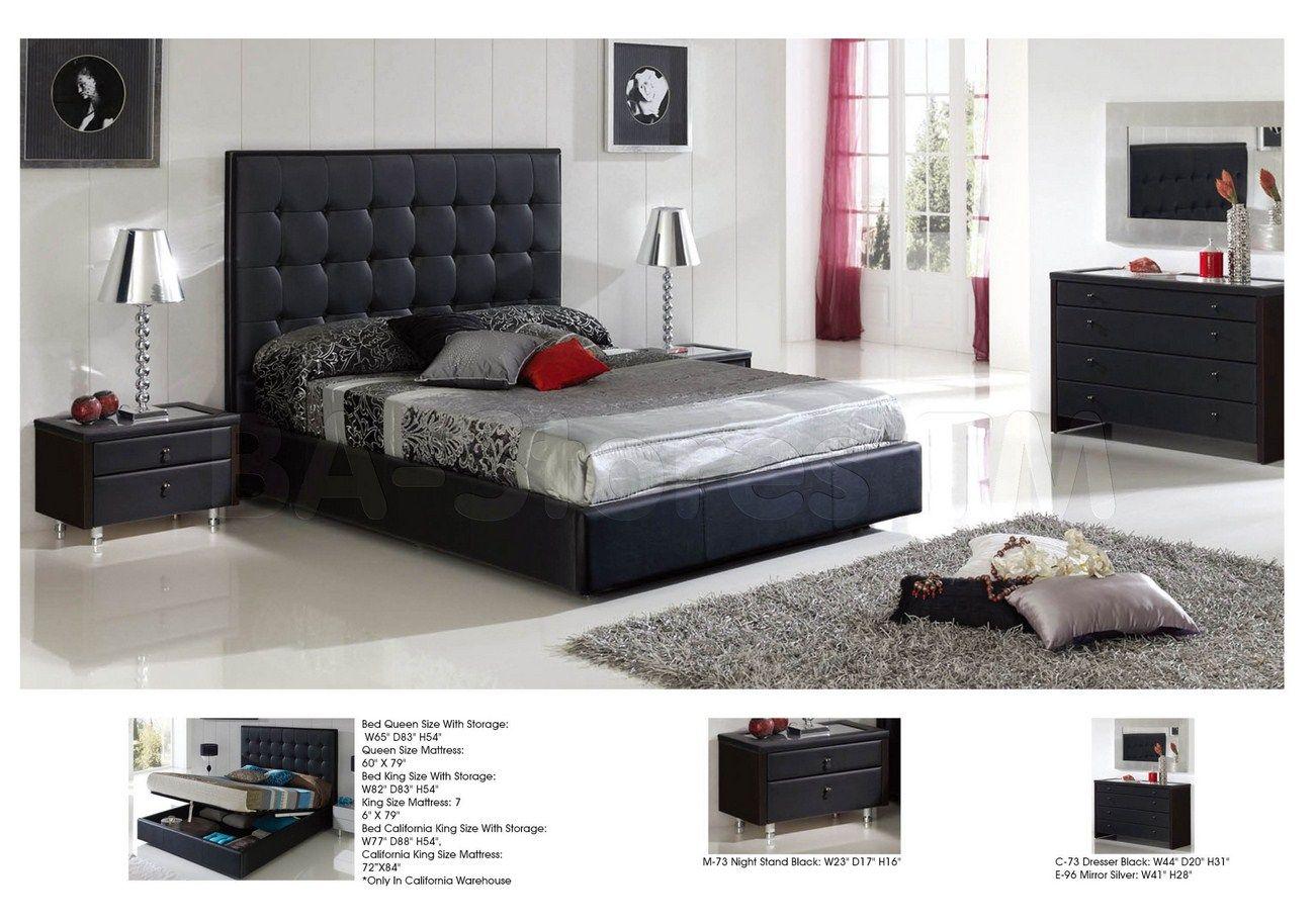 622 penelope bedroom set in black by esf bedroom sets by esf rh pinterest com