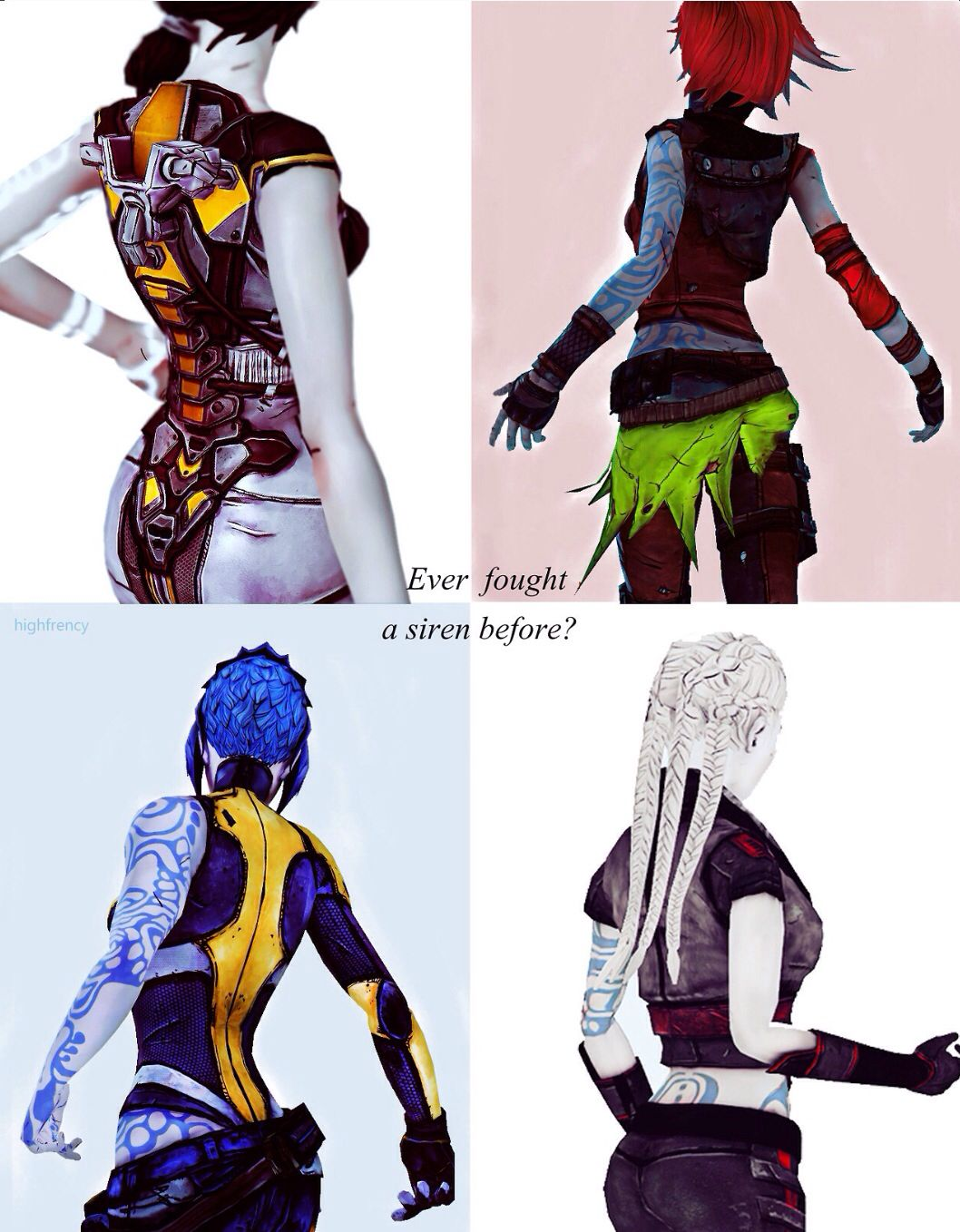 Borderlands Sirens & I'm going to have all but one at my wedding!