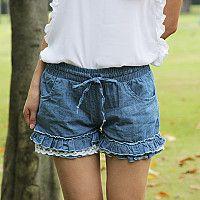 Elastic lace pants ~~