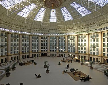 The Dome Of West Baden Resort Near French Lick Indiana Once Largest