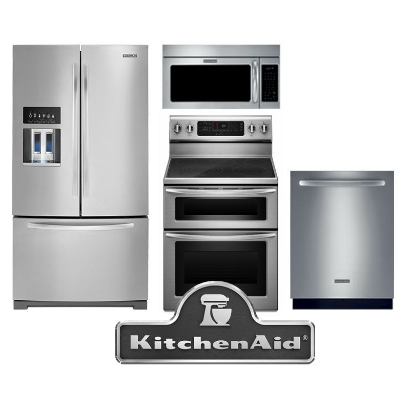 kitchenaid 4 piece stainless steel package the double oven platinum rh pinterest com