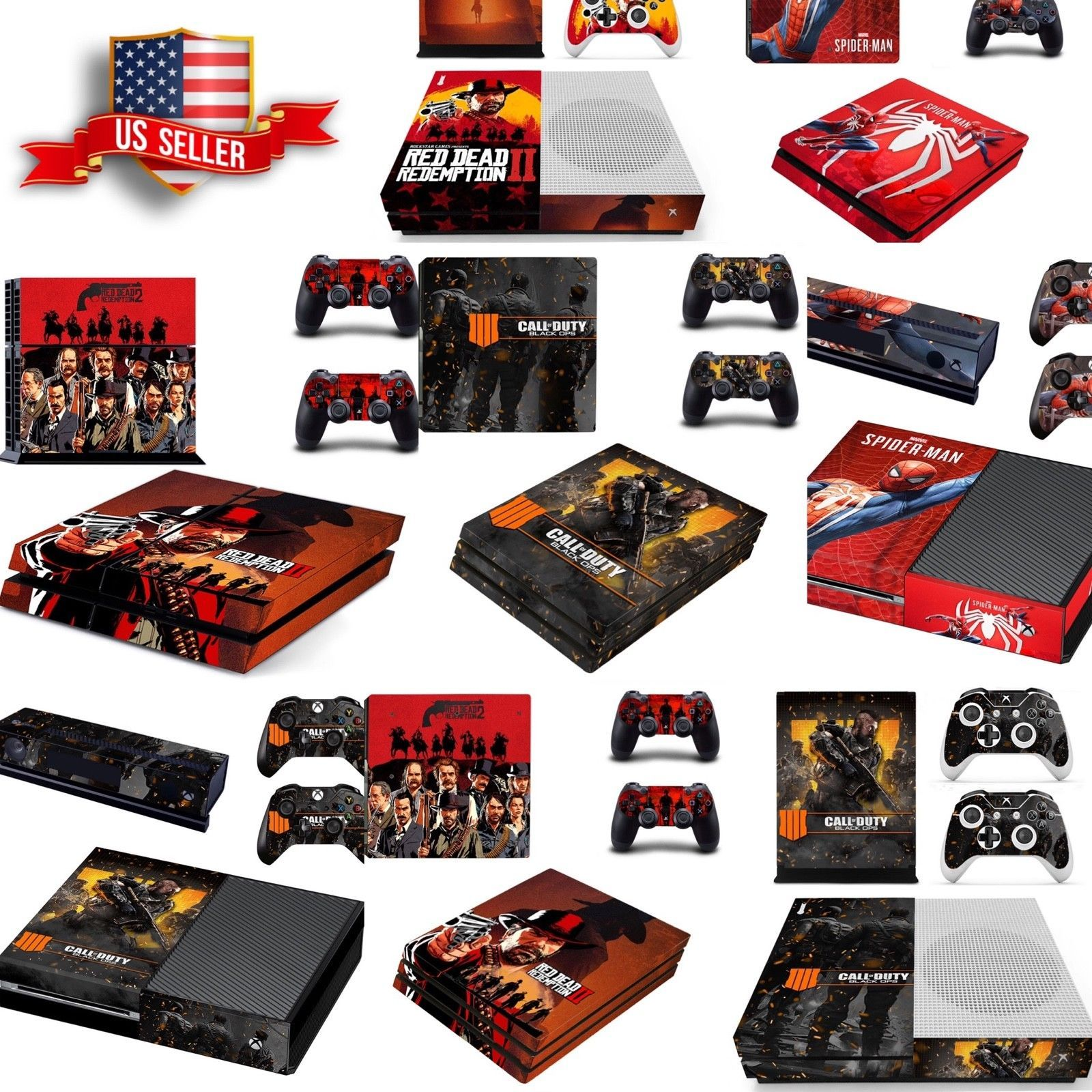 Ps4 pro wrap skin sticker ps4 slim xbox one s 360 console skin vinyl decal we sell fortnite accounts and loot crates cheap at bushcampers net