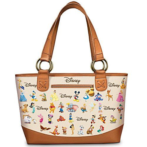 Ultimate Disney Tote Bag  Carryall Bag With Disney Characters by The  Bradford Exchange  Amazon.ca  Luggage   Bags 9c0085c01452f