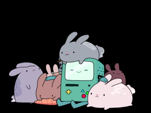 Bmo And Bunnies By Harsh Boogie Cute Kawaii Fanart Art
