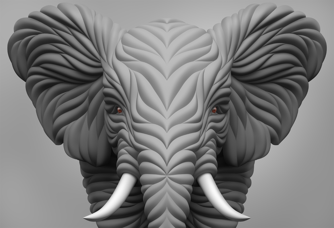 elephant   Very beautiful works and unique style!