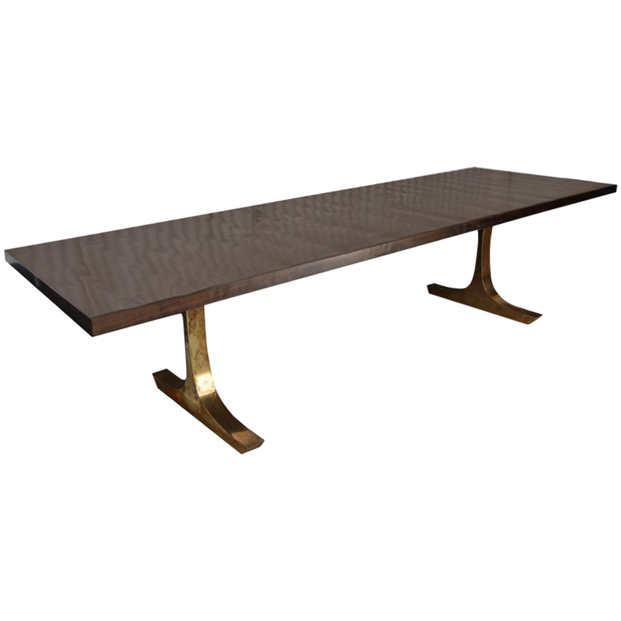 Coffee Table With Bronze Legs: Andrianna Shamaris French Polished Dining Table With
