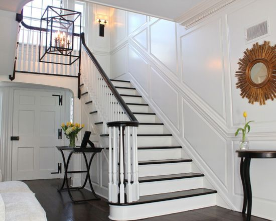 Best Pin By Henry Ko On Staircase White Paneling Foyer 400 x 300