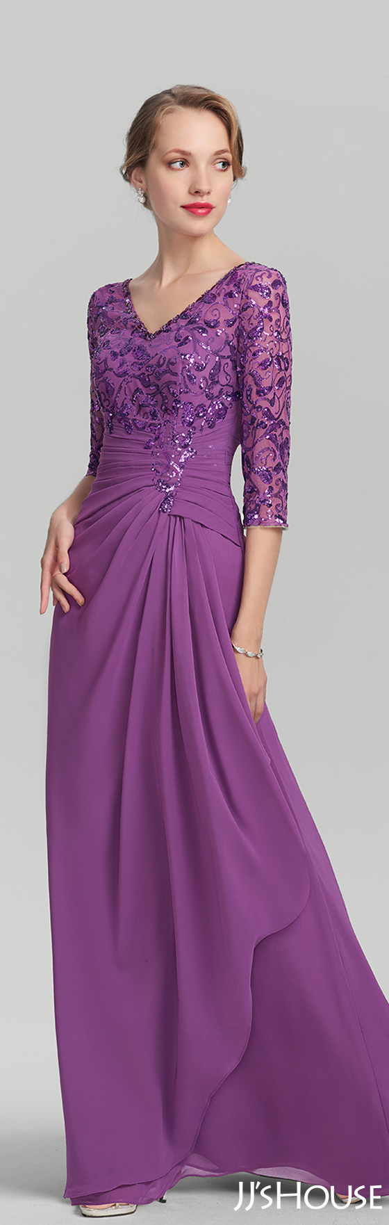 Energetic color and classic design made this perfect mother dress ...