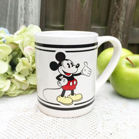 gibson disney mickey mouse coffee mug cup tea kitchen decor serving rh pinterest com