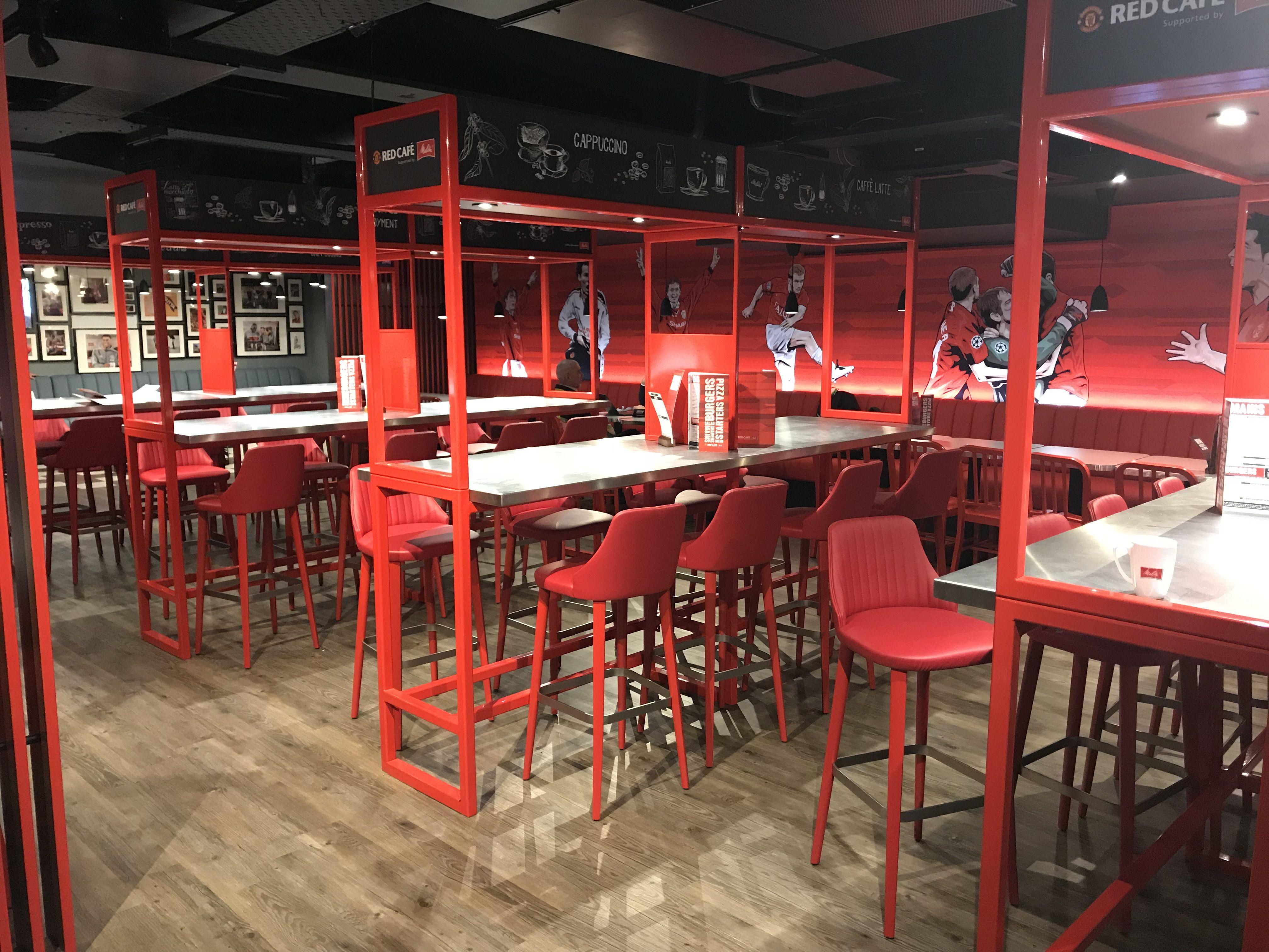 Manchester United Red Cafe Restaurant Design Cafe The Unit