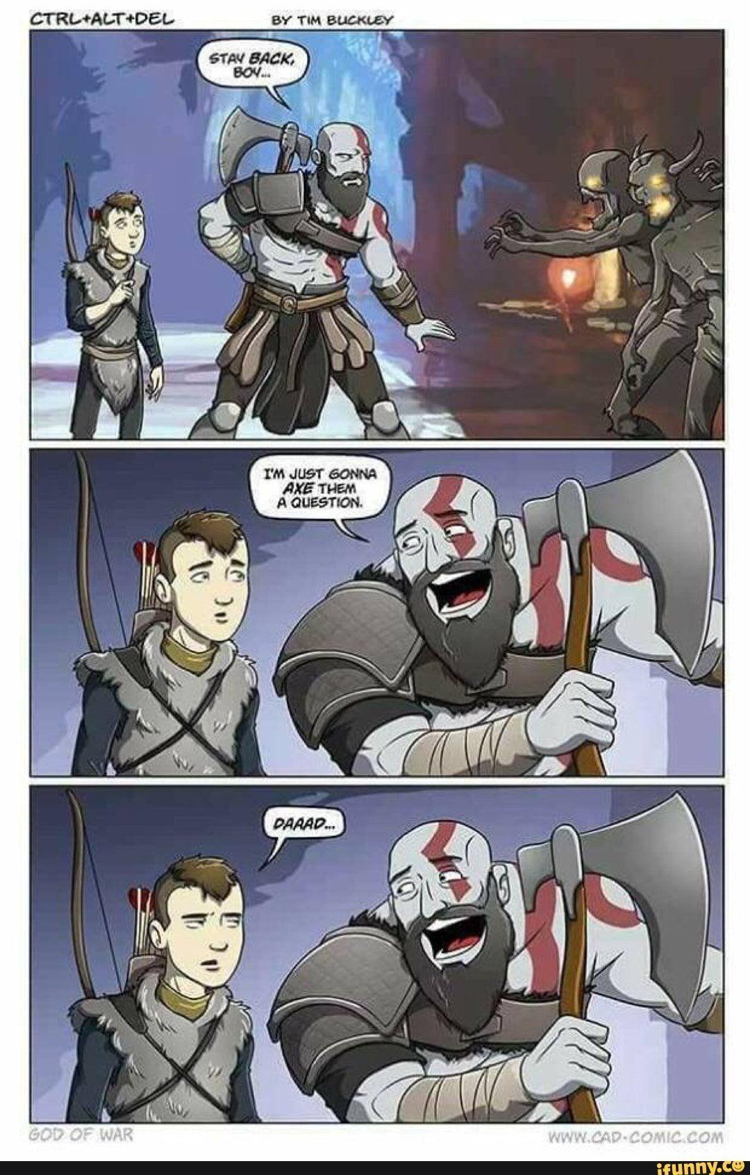 Dudegoback By Tim Buckley Dad Of Boy Jokes Kratos God Of War