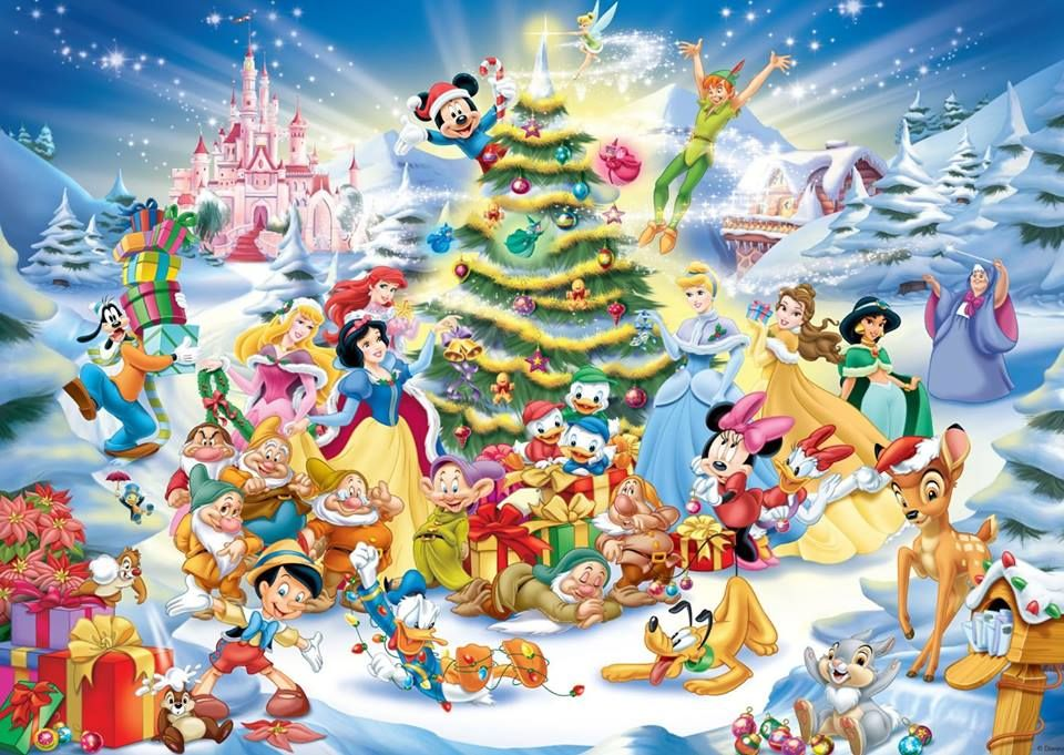 Merry Christmas with Disney characters!!!