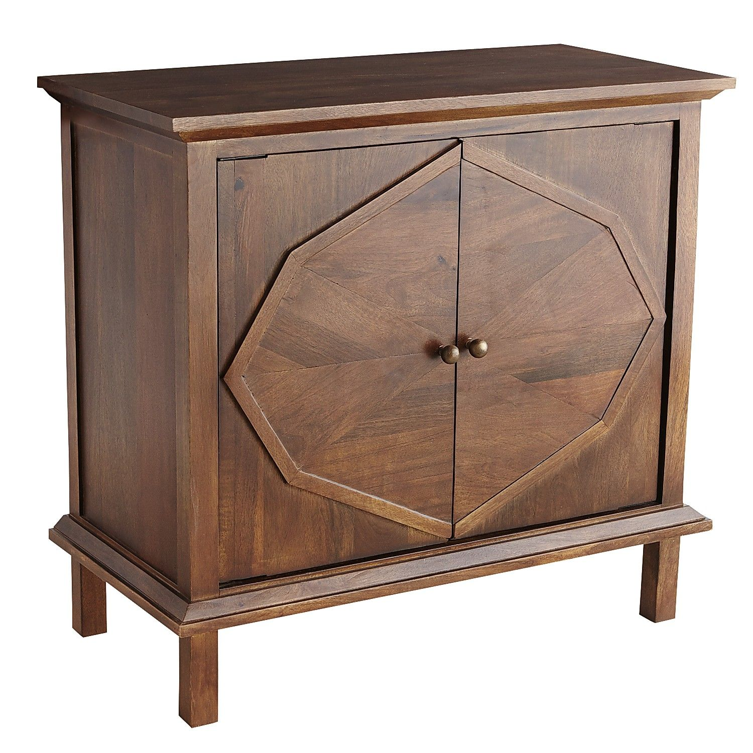 Storage Cabinets For Living Room: Brown Dimitri Cabinet - Iron