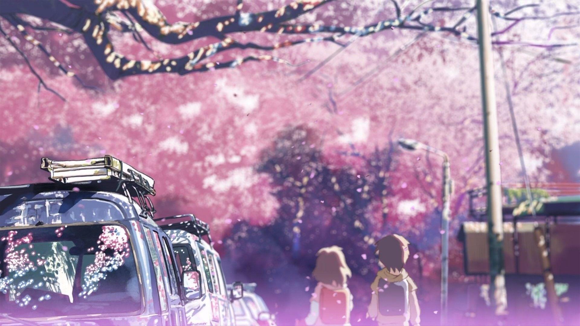 1920x1080 Cherry blossoms Makoto Shinkai 5 Centimeters Per