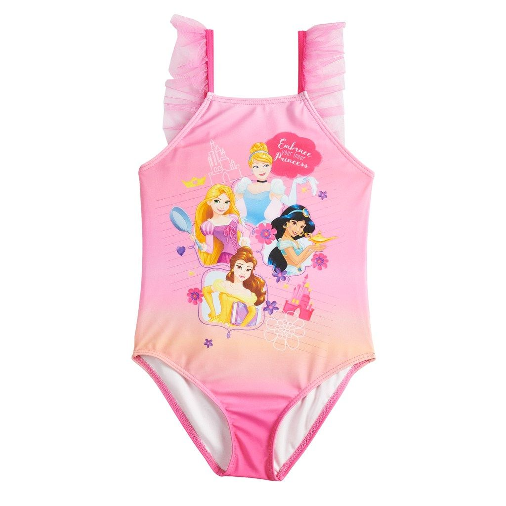 2b6d235df3922 Disney Princess Girls4-6x One-Piece Swimsuit | Products | Girls one ...