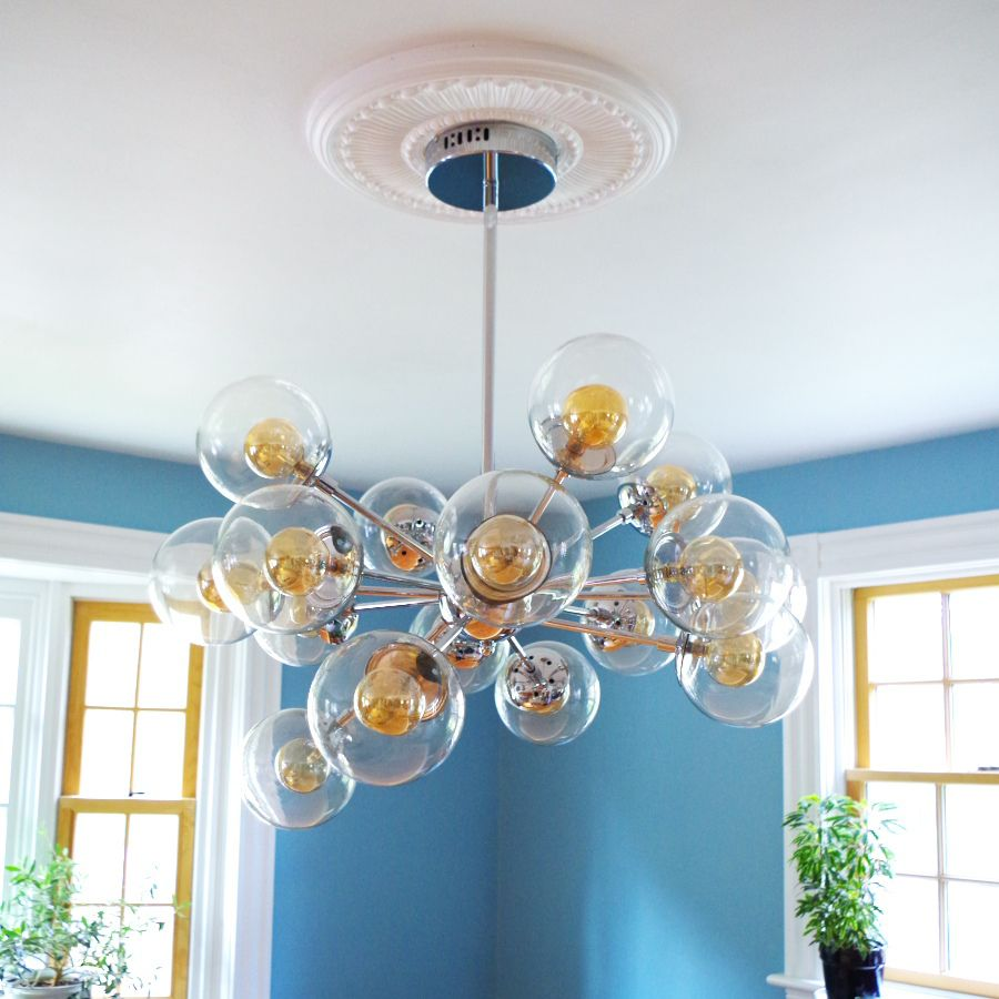 modern room with ceiling medallions - #medallions # ...