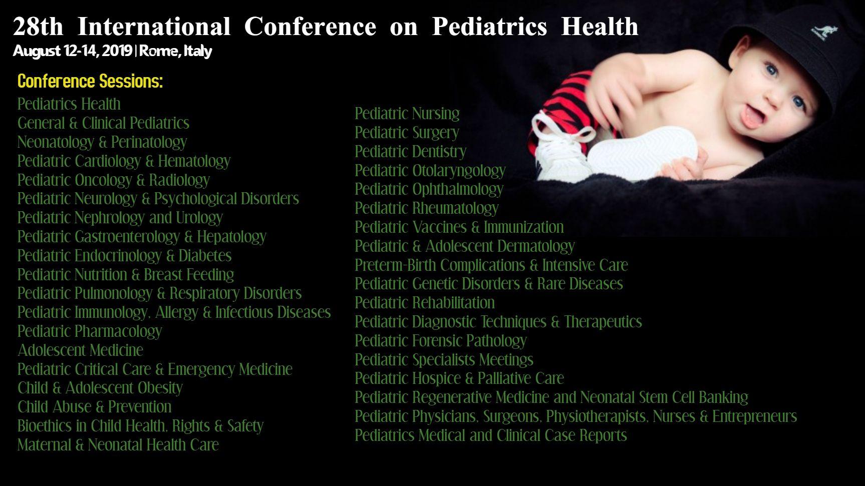 Scientific Sessions Pediatrics, Pediatric nursing, Health