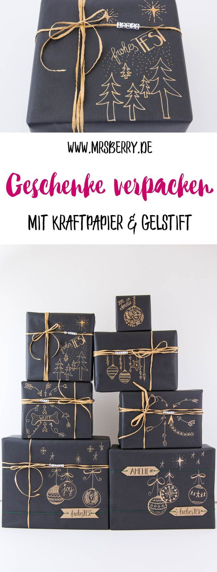 Photo of How to pack gifts beautifully with kraft paper