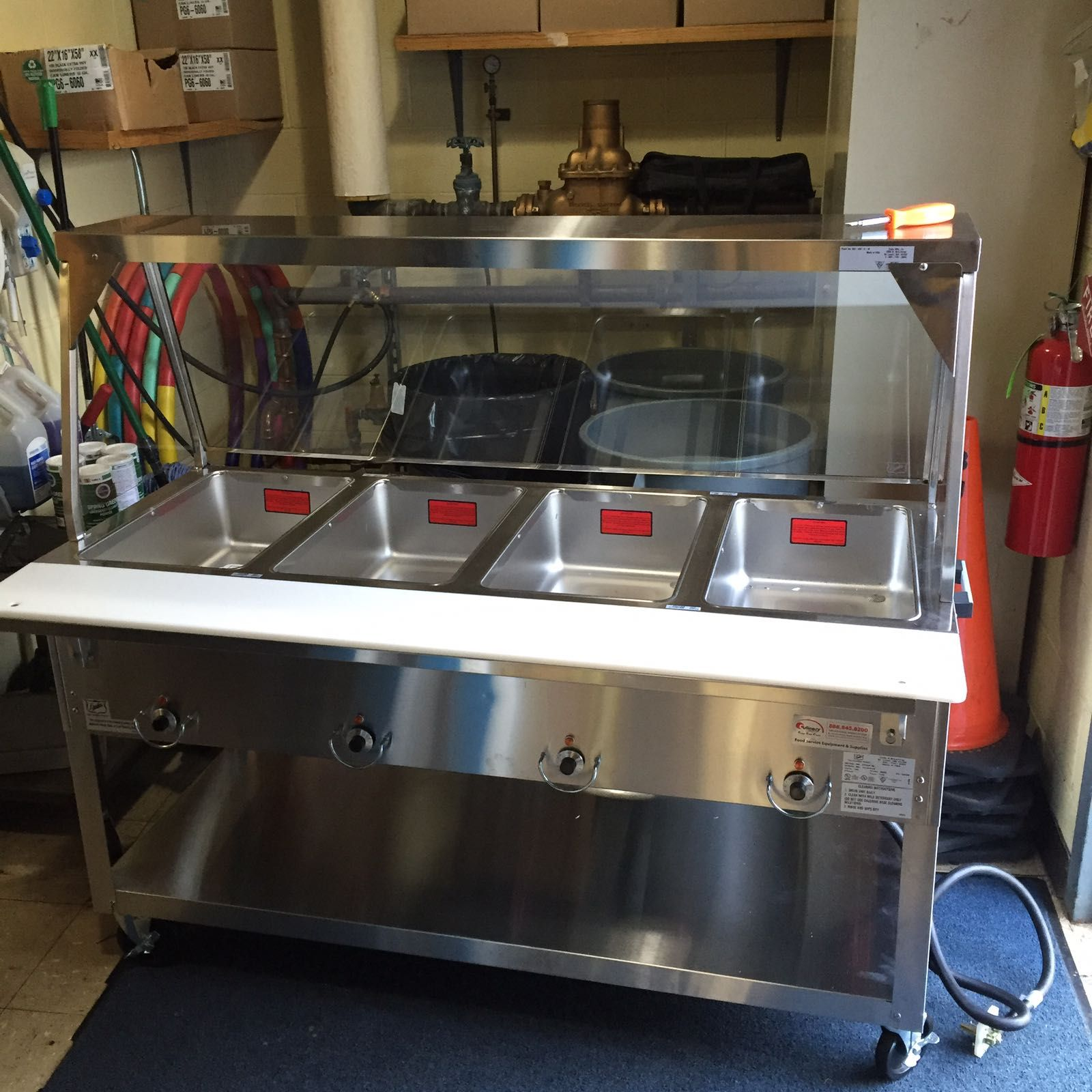 A New Duke Heated Steam Table Httpswwwculinarydepotinccom - Cafeteria steam table