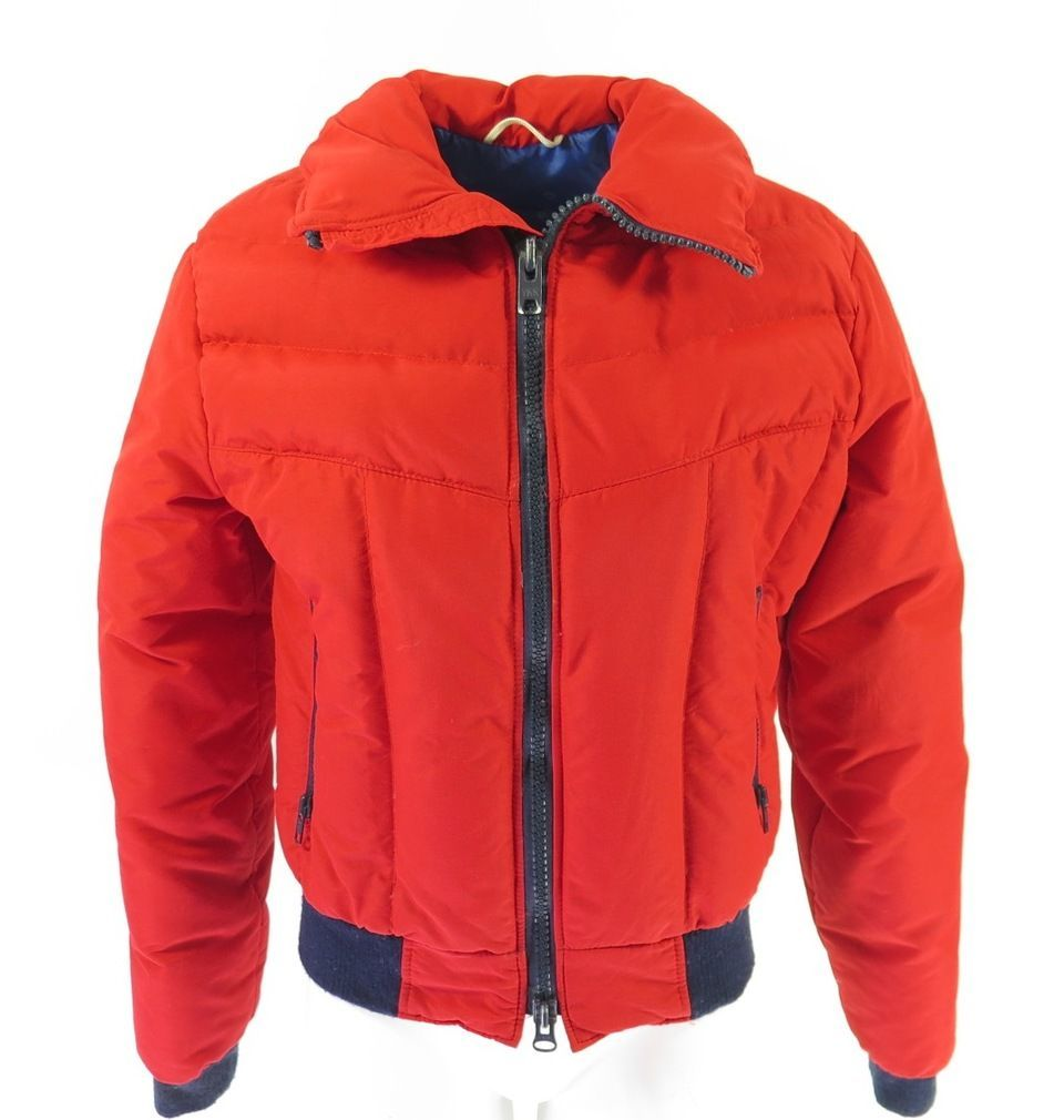 ac0ee1269ca Vintage 70s Mountain Goat Ski Jacket Mens M Retro Puffy Snowboard in 2019