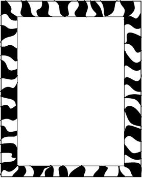 Freebie these borders are various colored zebra stripes on these borders are various colored zebra stripes on white backgrounds they voltagebd Choice Image