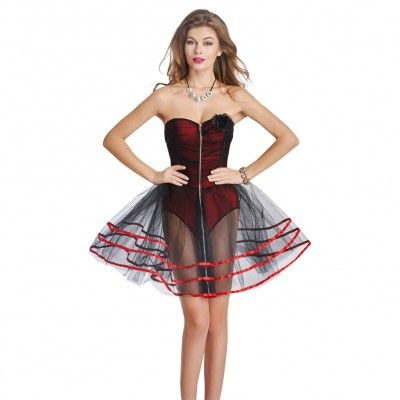 evening bustier back  gothic corset dresses strapless