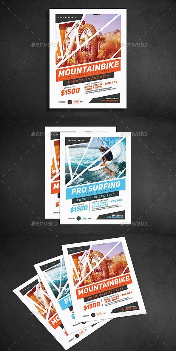 Extreme Sport Flyer Template Psd Flayers Conception De Brochure