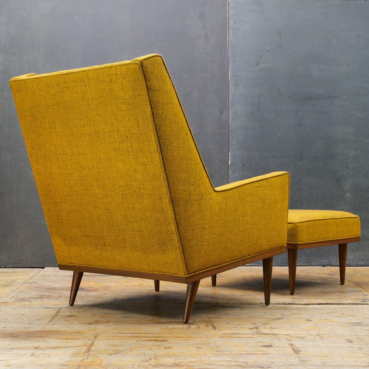 Marvelous Milo Baughman Highback Articulate Chair Ottoman Modernist Forskolin Free Trial Chair Design Images Forskolin Free Trialorg