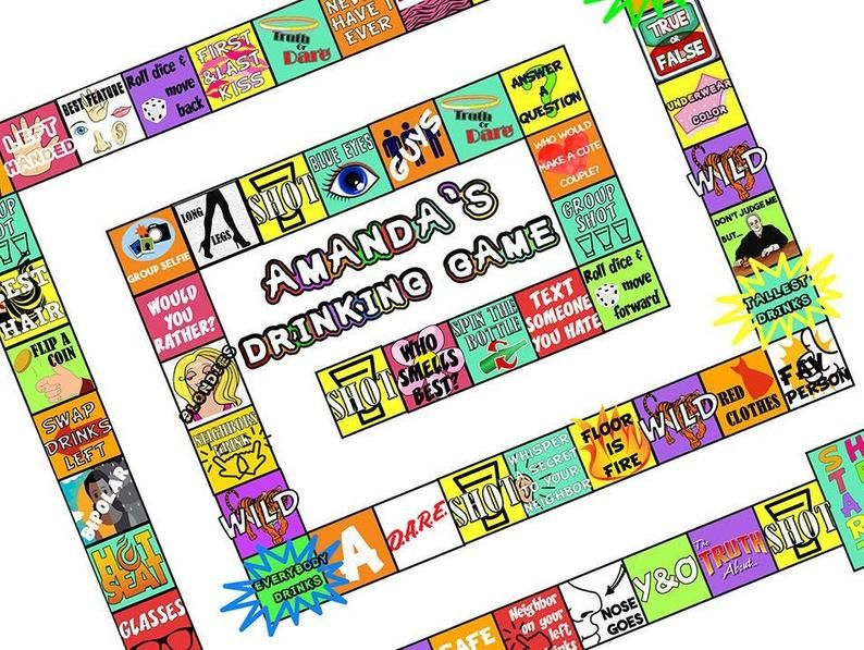 customized drinking board game printable drinking board