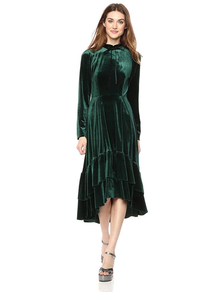 Wild Meadow Women S Long Sleeve Hi Lo Ruffle Dress With Contrast Neck Tie Shop2online Best Woman S Fashion Products Designed To Provide Fashion Womens Dresses Dresses [ 1024 x 788 Pixel ]