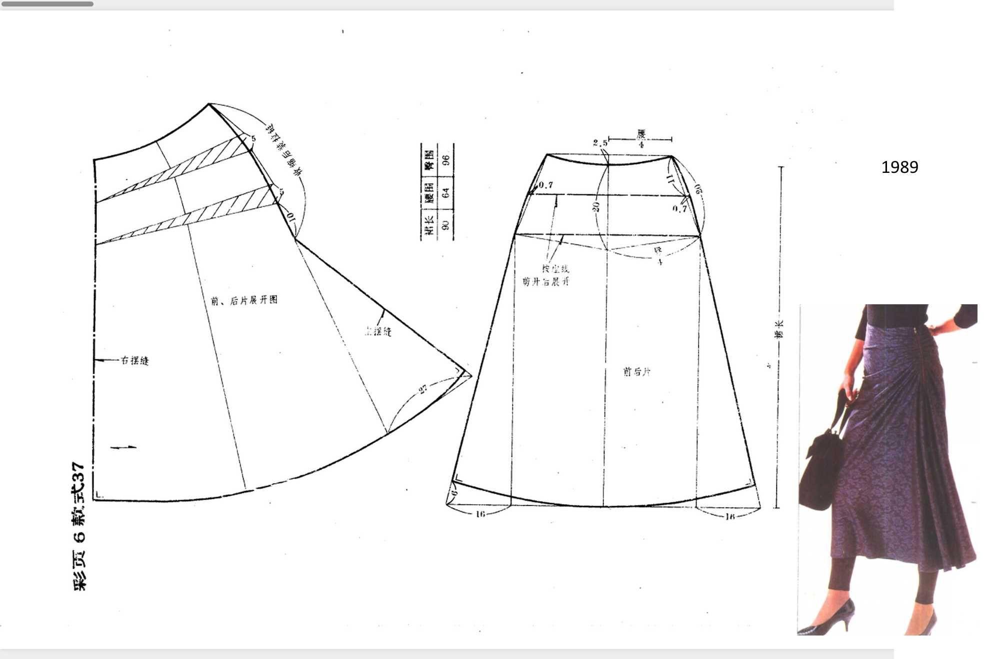 Pin de Aynur Erkarslan en AY | Pinterest | Patron falda, Falda y ...