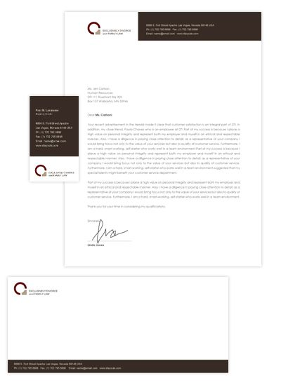 Family Law Business Card  Letterhead Template Will Be A Good