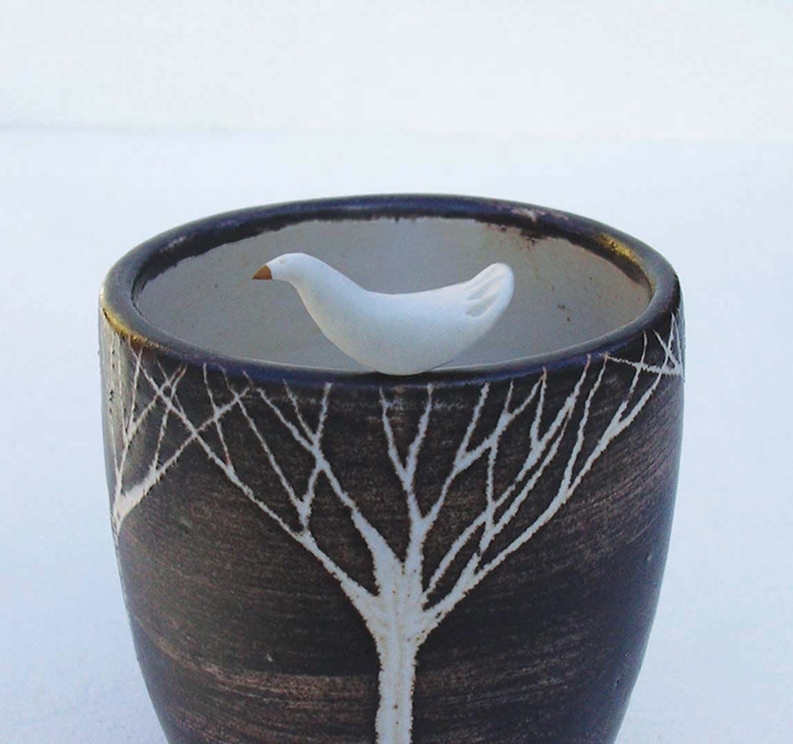 Love, love, love this bird vessel by Jane Bygrave.