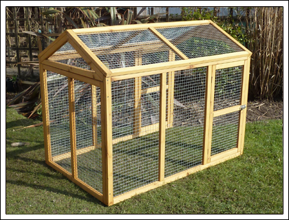 Perfect design for a chicken run would add corrugated for Chicken enclosure ideas