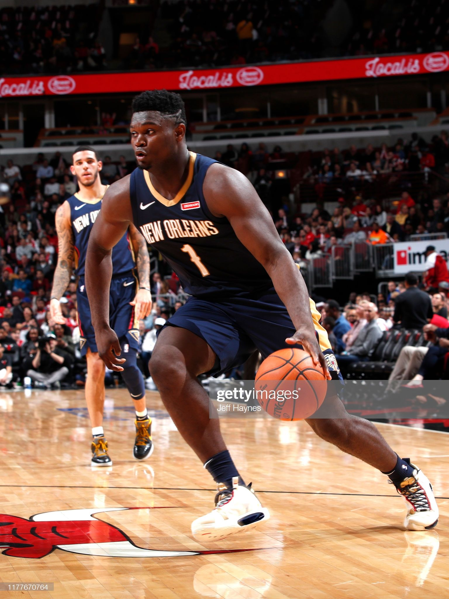 Https Media Gettyimages Com Photos Zion Williamson Of The New Orleans Pelicans Handles The Ball Against Picture Id1177670764 S 2048x2048 With Images Zion