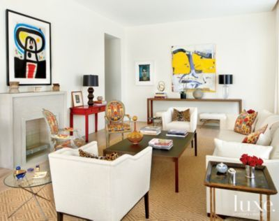A #modern penthouse boasts an eclectic living room See more at www