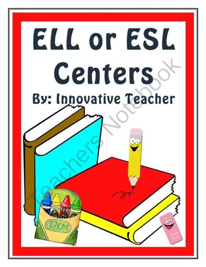 Innovative Classroom Worksheets ~ Ell or esl centers teacher english and activities