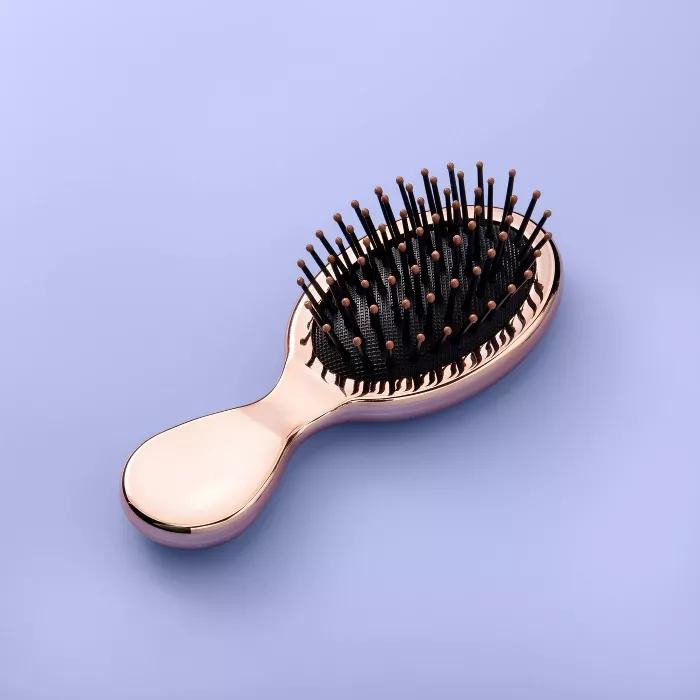 Mini Hair Brush More Than Magic Metallic Bronze Hair Brush Brush Travel Size Products